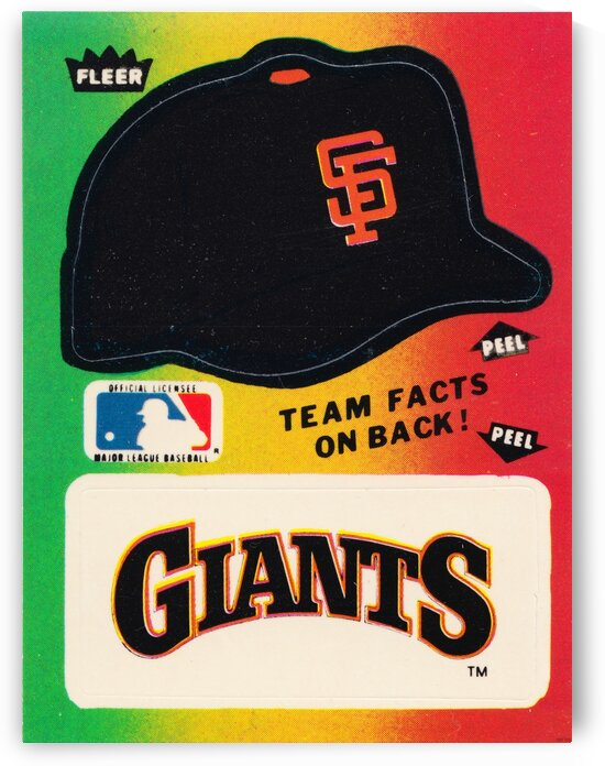 1983 San Francisco Giants Fleer Decal  by Row One Brand
