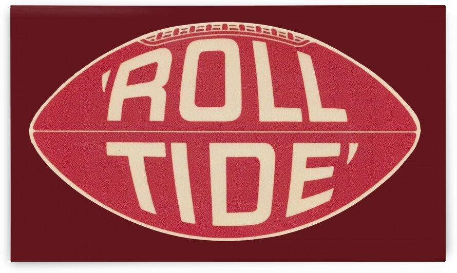 1960s Alabama Roll Tide Football Art by Row One Brand