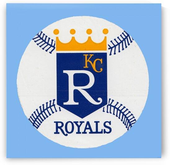 1970s Kansas City Royals Art by Row One Brand