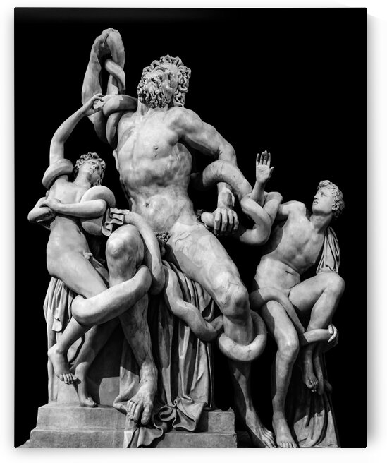LaocoonSculptureOverBlack2 by Daniel Ferreia Leites Ciccarino