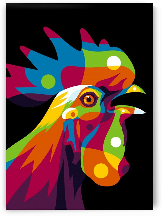 Rooster Inside Pop Art by wpaprint