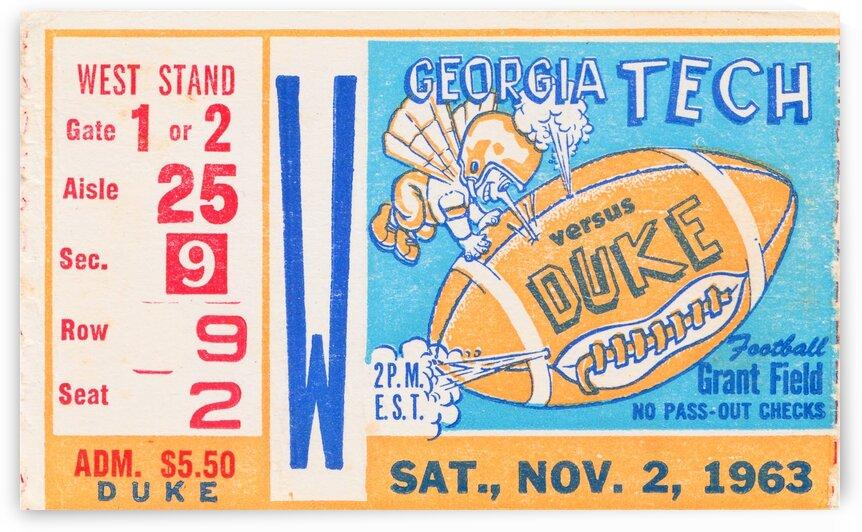 1963 Duke vs. Georgia Tech  by Row One Brand