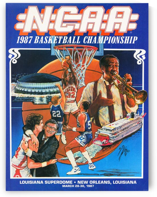 1987 NCAA Basketball Championship by Row One Brand