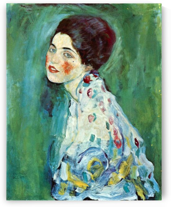 Portrait of a Lady by Klimt by Klimt