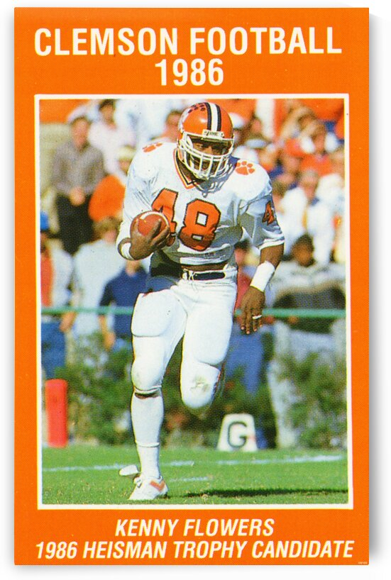 1986 Clemson Football by Row One Brand
