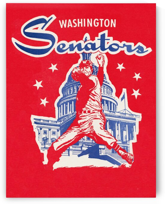 1962 Washington Senators Art by Row One Brand