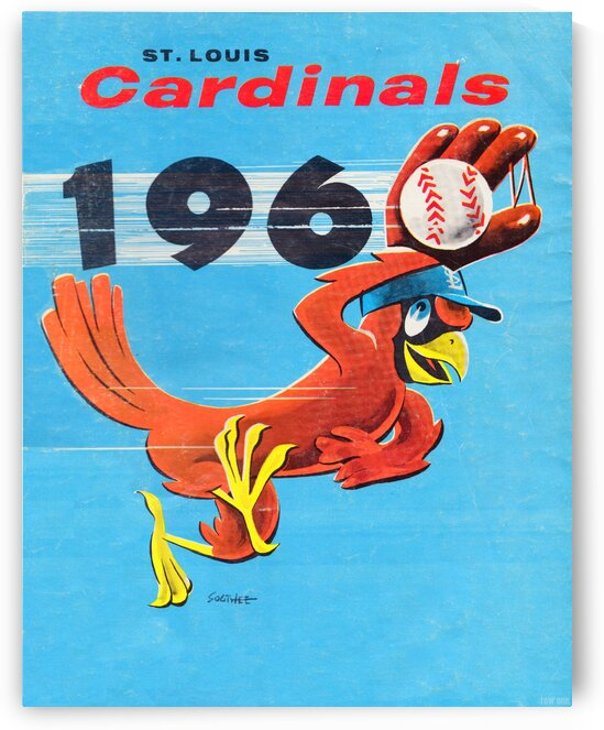 1960 St. Louis Cardinals Art by Row One Brand