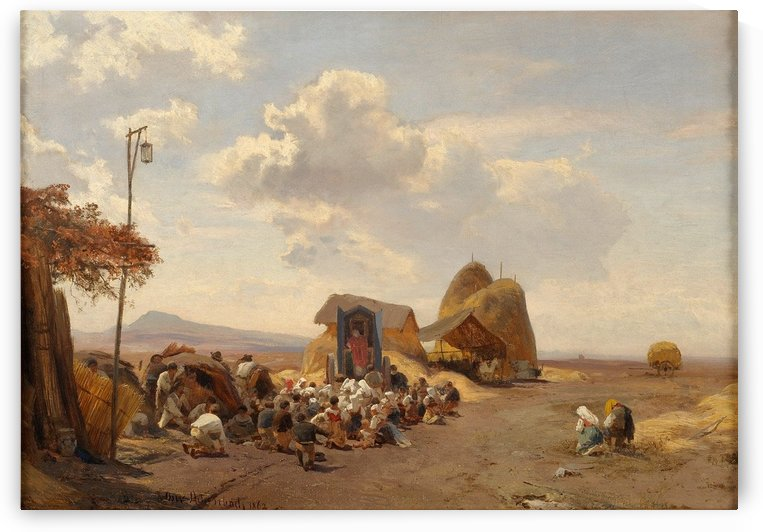 Reapers in the Roman Campagna by Oswald Achenbach
