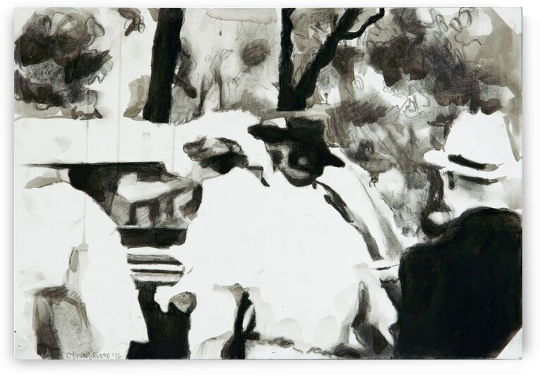 Guests Getting in to Car Seen from Behind  Riverton 1937 by Caroline Youngblood