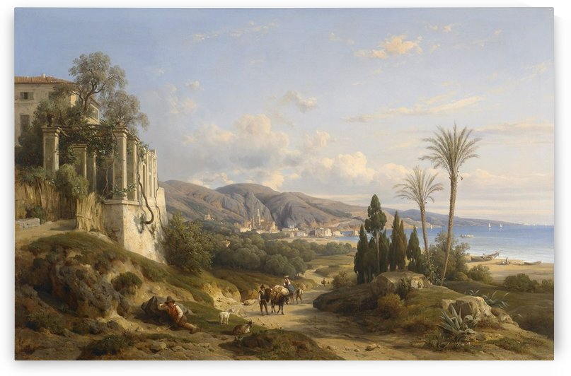 The Bay of Naples by Francois Antoine Leon Fleury
