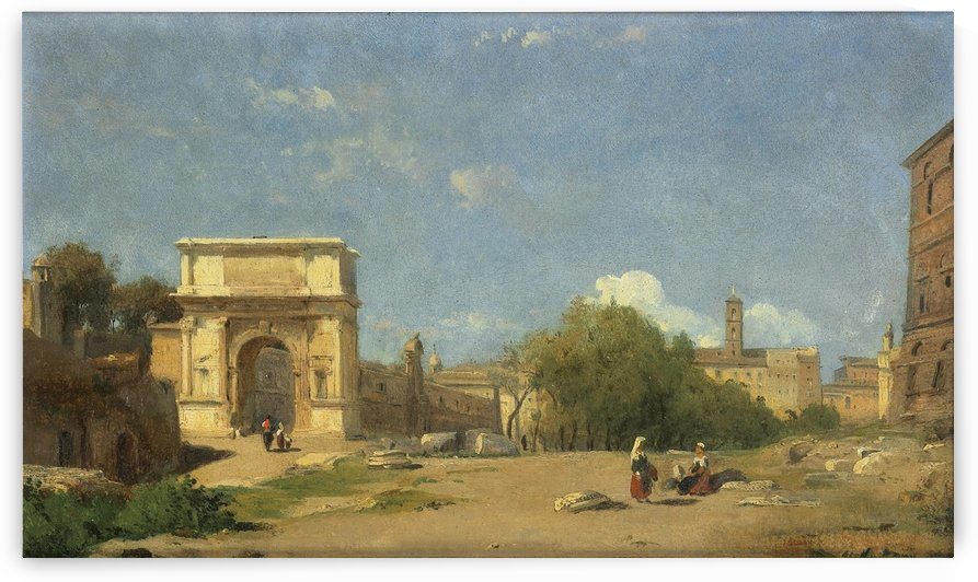 The Arch of Titus in Rome by Francois Antoine Leon Fleury