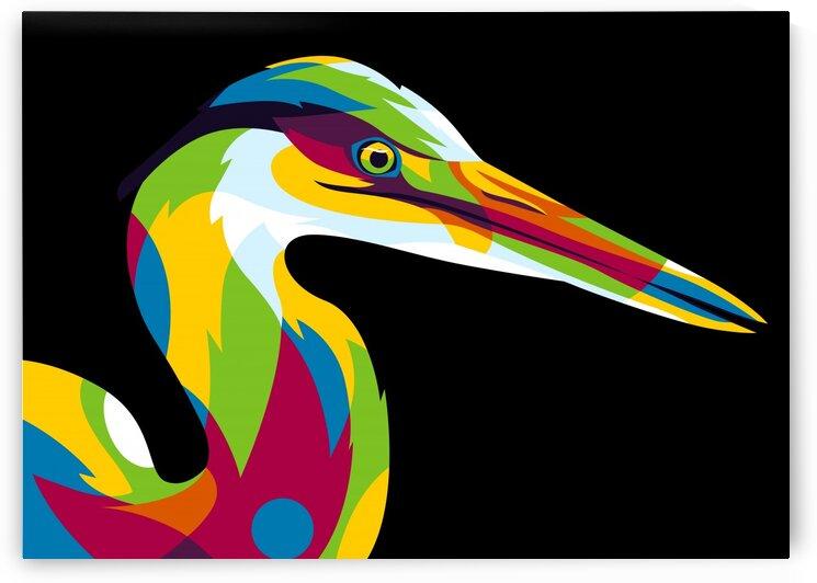 Great Heron in Pop Art Style by wpaprint