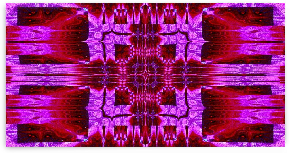 Red In Pink Tapestry 2 by Sherrie Larch