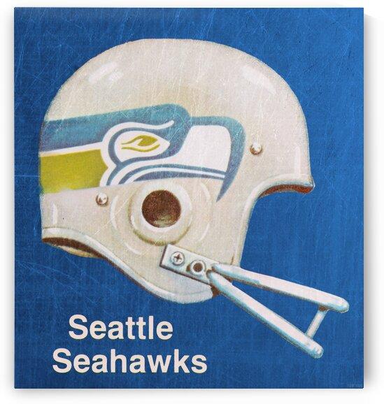 1970s Seattle Seahawks Helmet Art by Row One Brand