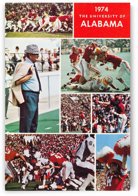 1974 Alabama Football Print by Row One Brand