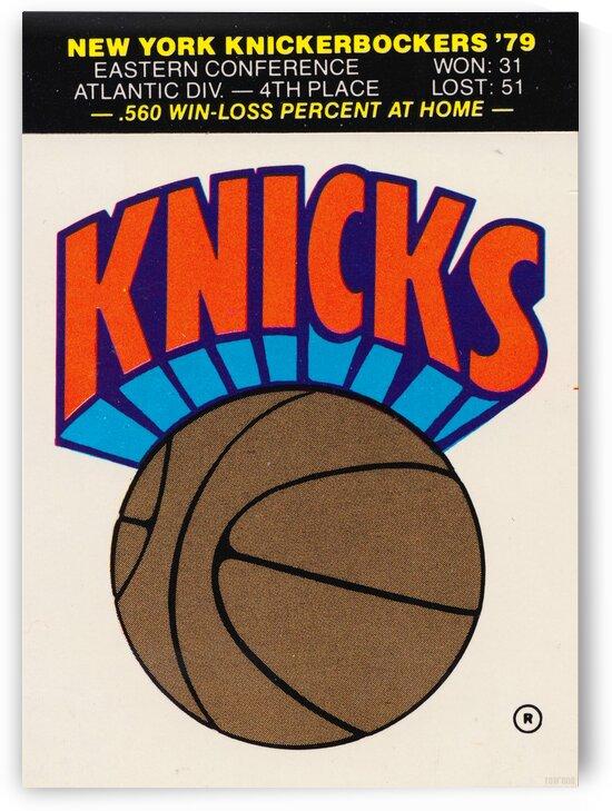 1979 New York Knicks Art by Row One Brand