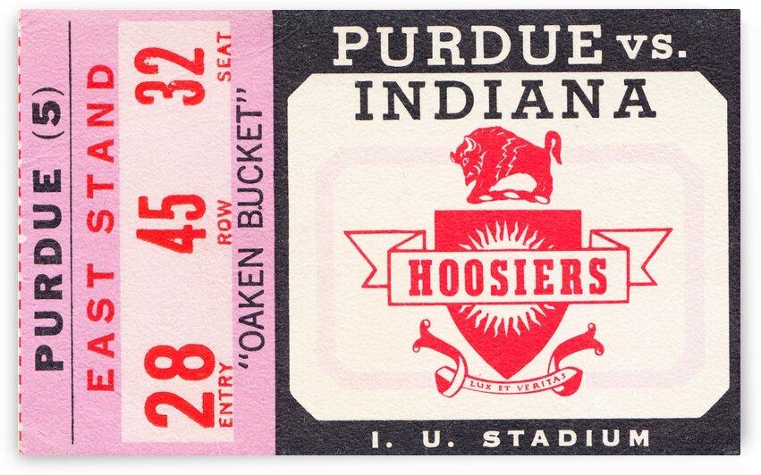 Vintage Indiana Hoosiers Football Ticket Stub by Row One Brand