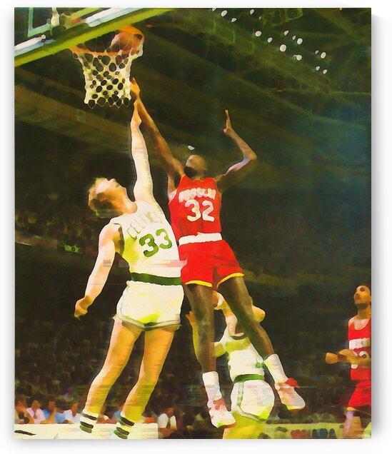 1986 NBA Finals Larry Bird Art by Row One Brand