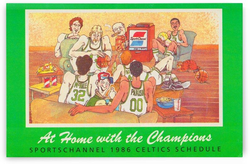1986 Boston Celtics Cartoon Art by Row One Brand