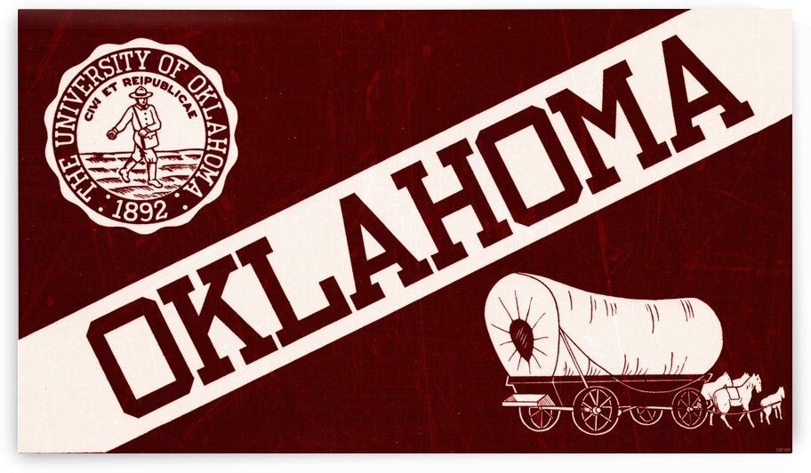 1950s oklahoma sooners art by Row One Brand