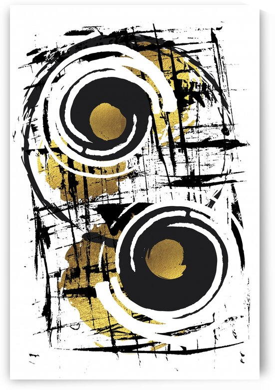 Abstract Painting No. 35   gold  by Melanie Viola