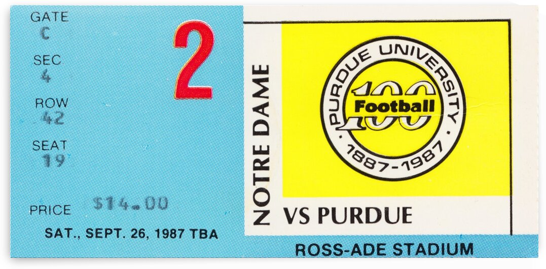 1987 Purdue vs. Notre Dame by Row One Brand