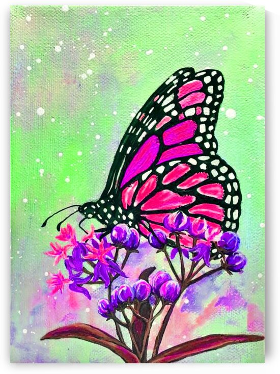 Flower and butterfly  by Nature Art