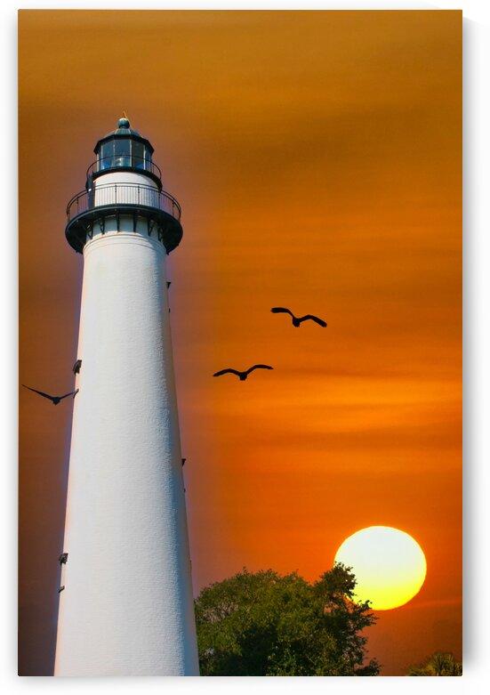 LighthouseandSun by Darryl Brooks