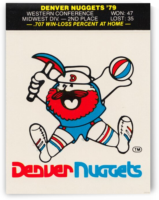 1979 Denver Nuggets Decal  by Row One Brand