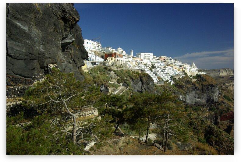 Santorini Cliffs by Kristian Gunderson