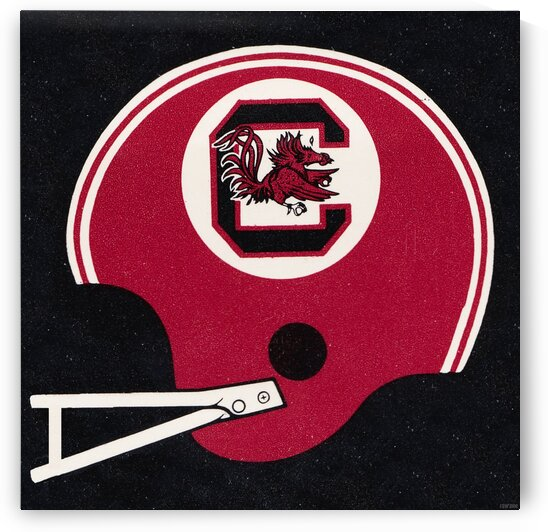 1984 South Carolina Football Helmet Art  by Row One Brand