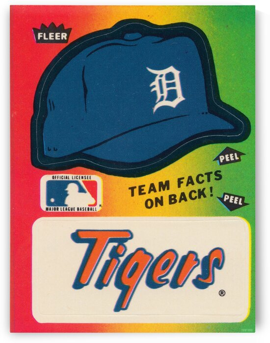 1983 Detroit Tigers Fleer Decal by Row One Brand