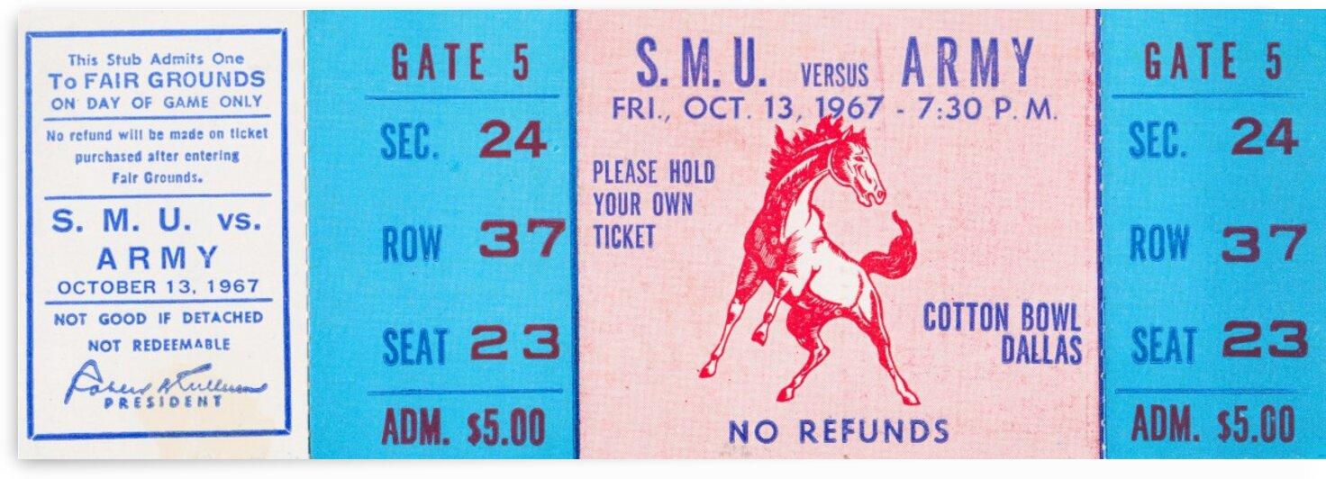 1967 Army vs. SMU by Row One Brand