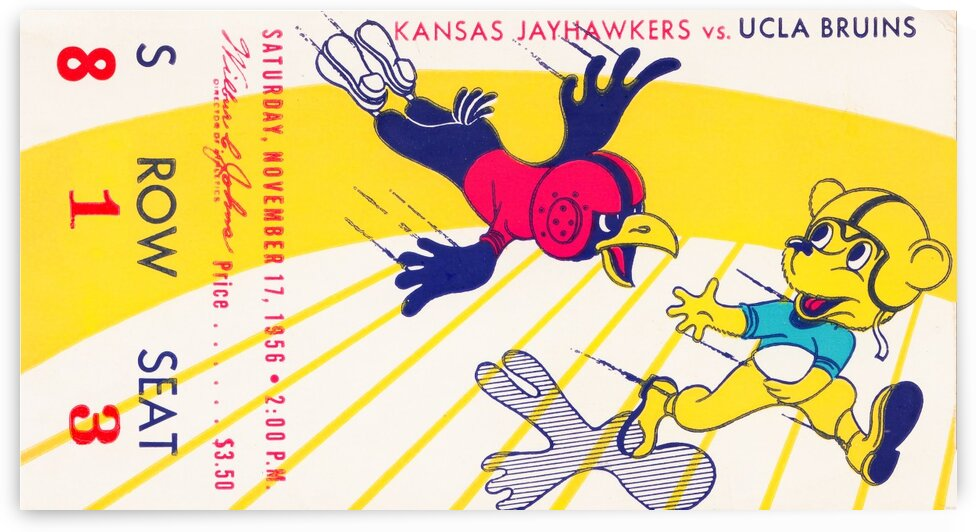 1956 UCLA vs. Kansas by Row One Brand