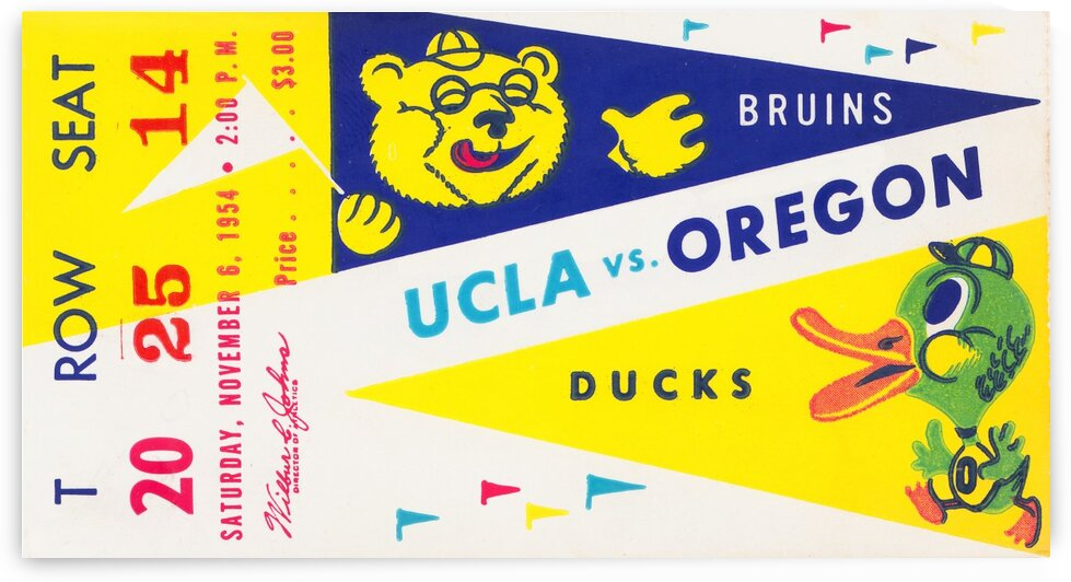 1954 UCLA vs. Oregon by Row One Brand