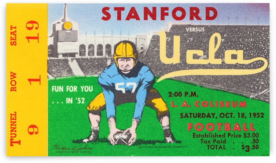 1952 UCLA vs. Stanford by Row One Brand