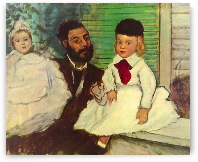 Portrait of Count Lepic and his daughters by Degas by Degas
