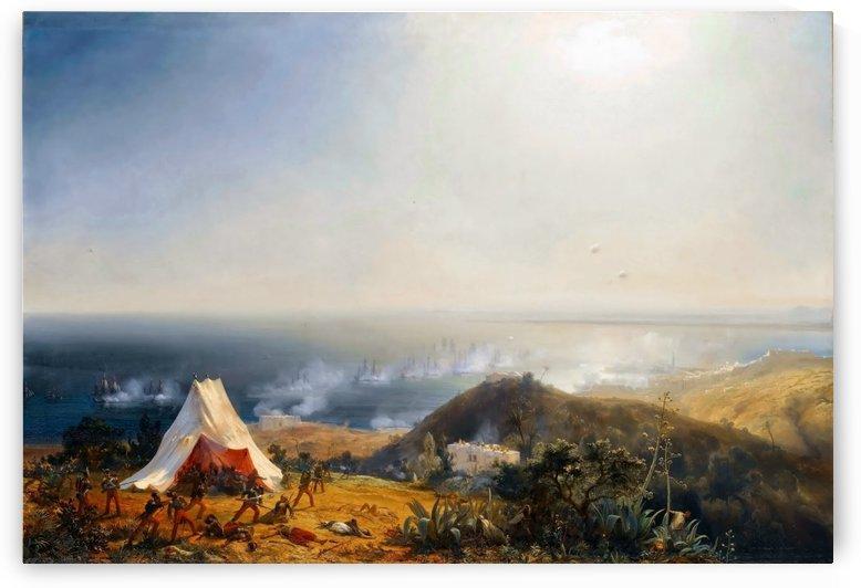 Attack of Algiers by Sea by Jean Antoine Theodore de Gudin