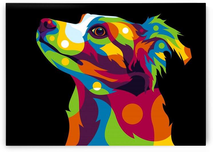 Dog Inside in Pop Art Style by wpaprint