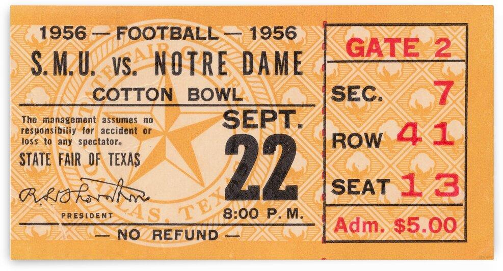 1956 Notre Dame vs. SMU by Row One Brand