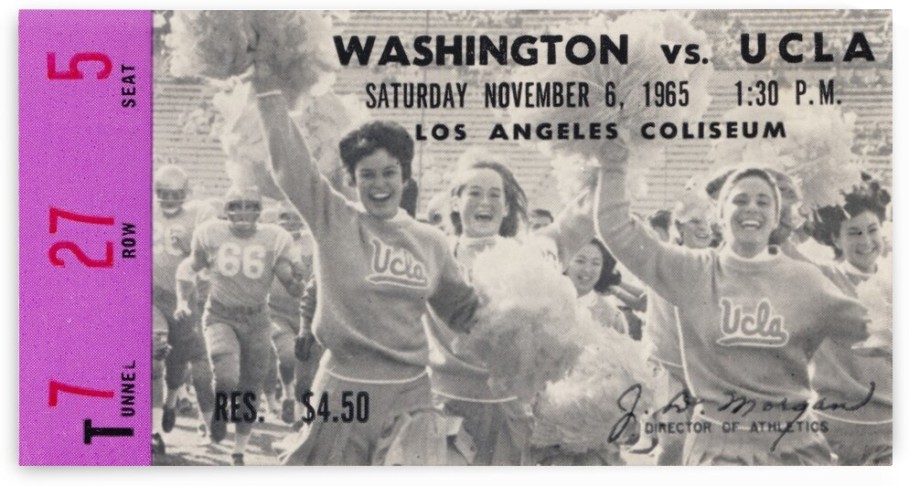 1965 Washington vs. UCLA by Row One Brand