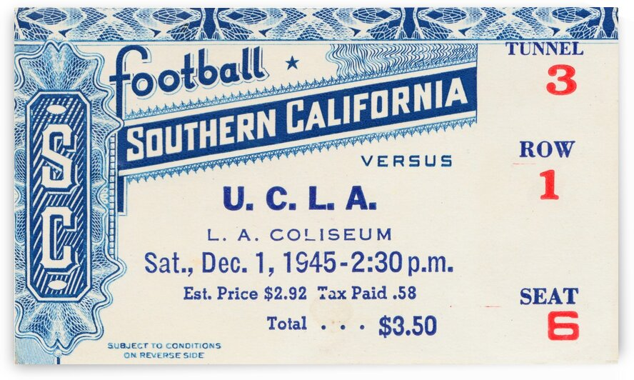 1945 USC vs. UCLA Game 2 by Row One Brand