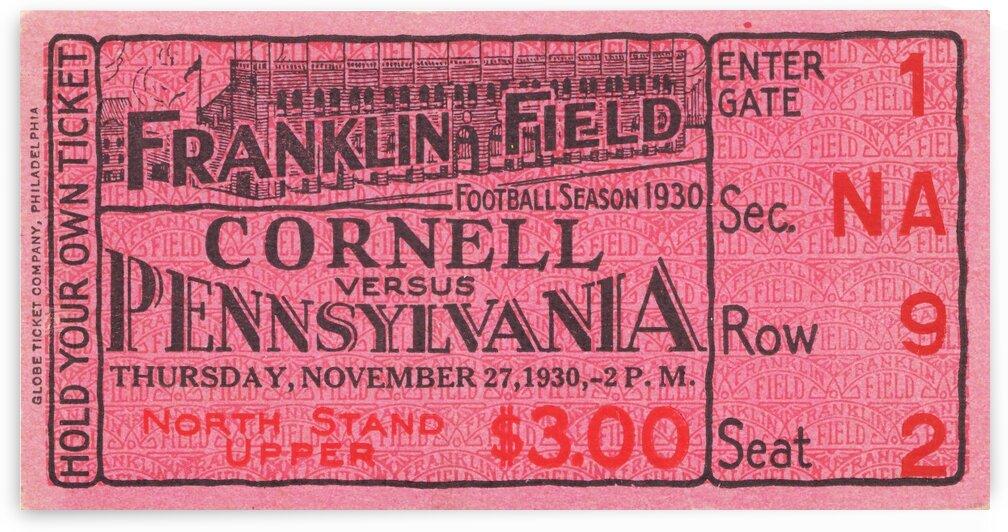 1930 Cornell vs. Penn by Row One Brand