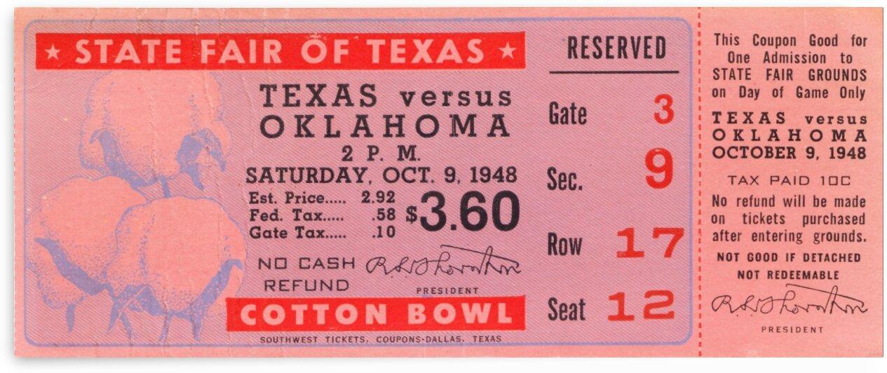 1948 Oklahoma vs. Texas by Row One Brand