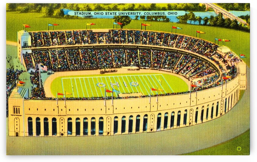 Ohio Stadium Art Circa 1940 by Row One Brand