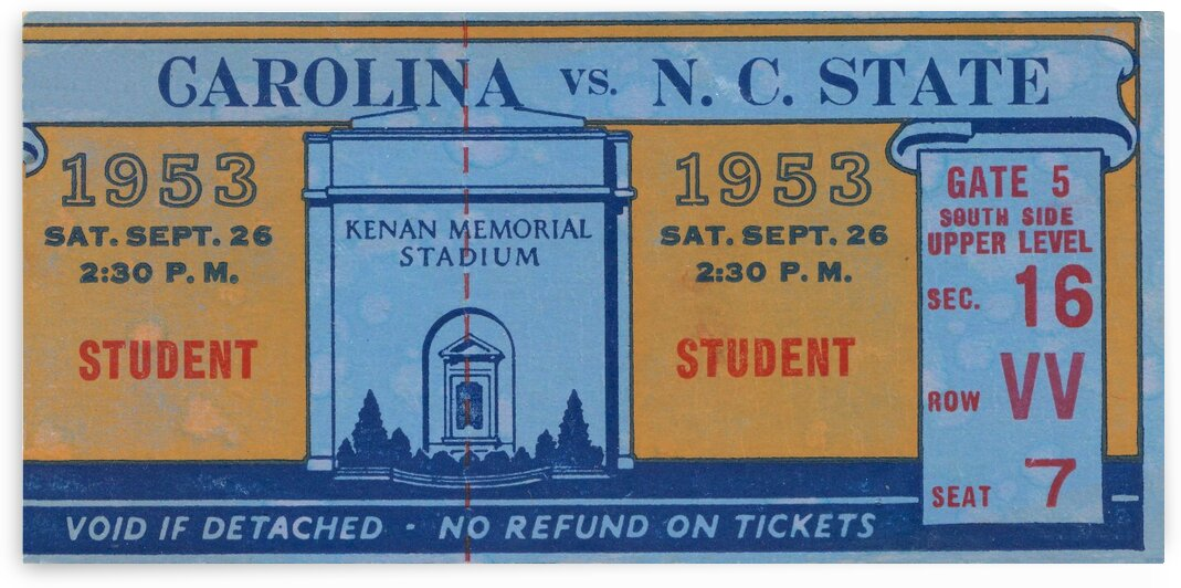 1953 North Carolina vs. NC State by Row One Brand