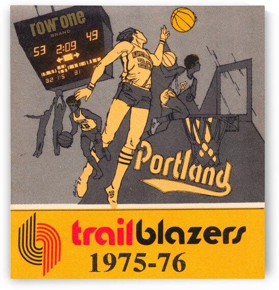 1975 Portland Trailblazers Art by Row One Brand
