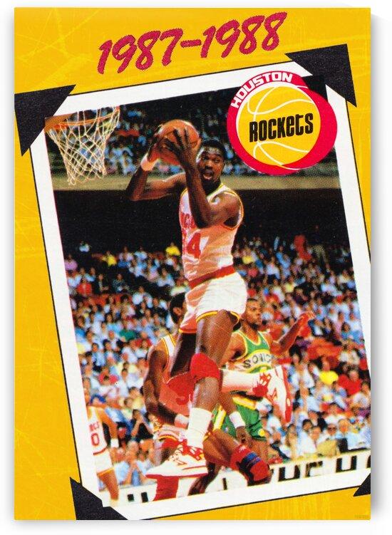 1987 Hakeem Olajuwon Houston Rockets by Row One Brand