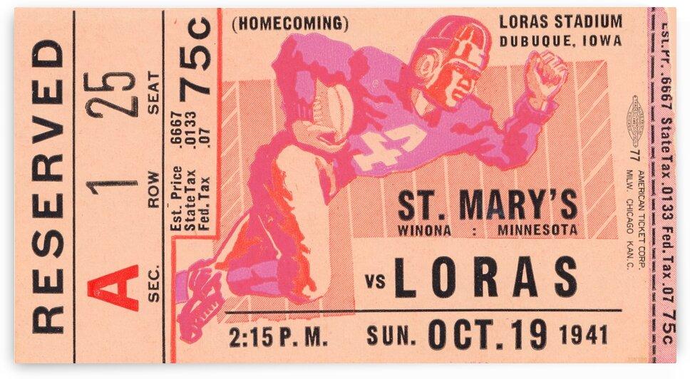1941 St. Marys vs. Loras by Row One Brand