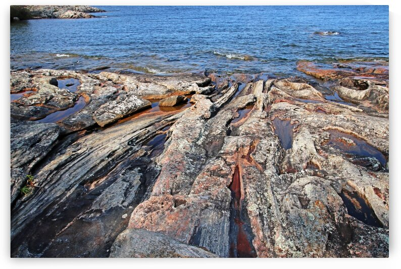 The Rock Of Wreck Island II by Deb Oppermann